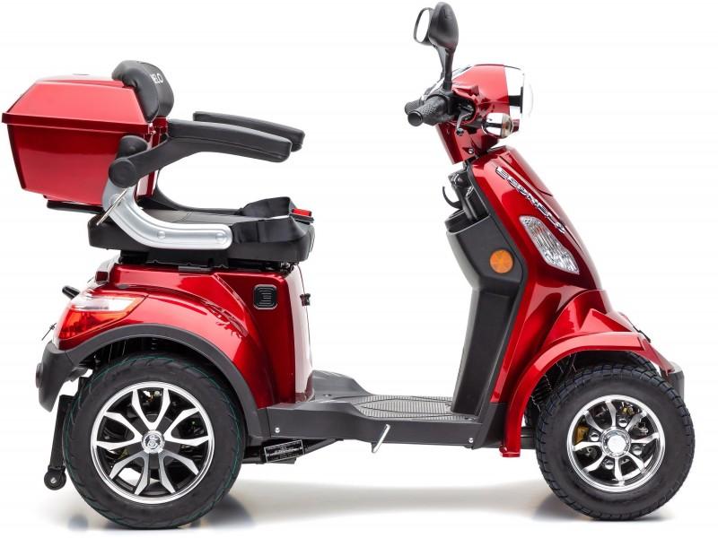 """Theodor"" ECONELO Elektromobil J4000 rot 25 km/h, mit Topcase"