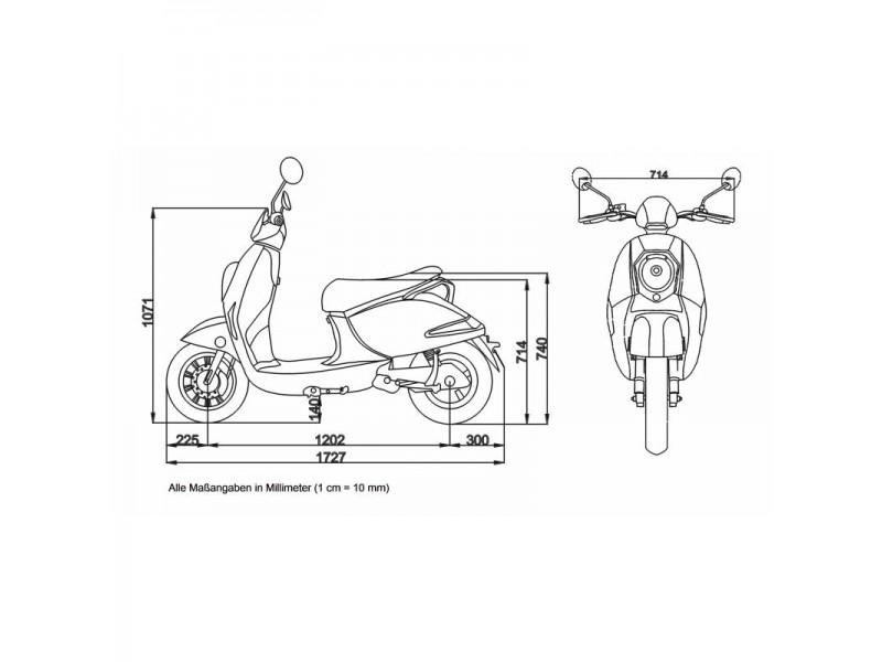 GRACE  E-Moped 45  »BOSCH MOTOR« inkl. Topcase