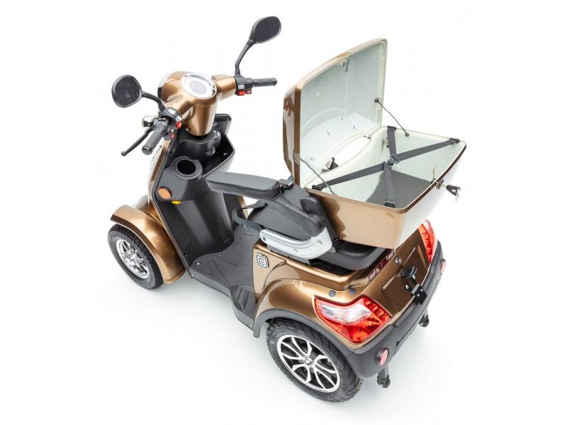 """Theodor"" ECONELO Elektromobil J4000 braun 25 km/h, mit Topcase"