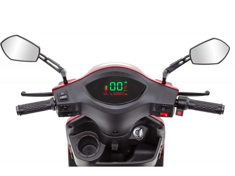ECONELO Elektromobil J1000 rot 25 km/h, mit Topcase