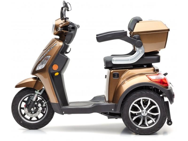 ECONELO Elektromobil J1000 braun 25 km/h, mit Topcase