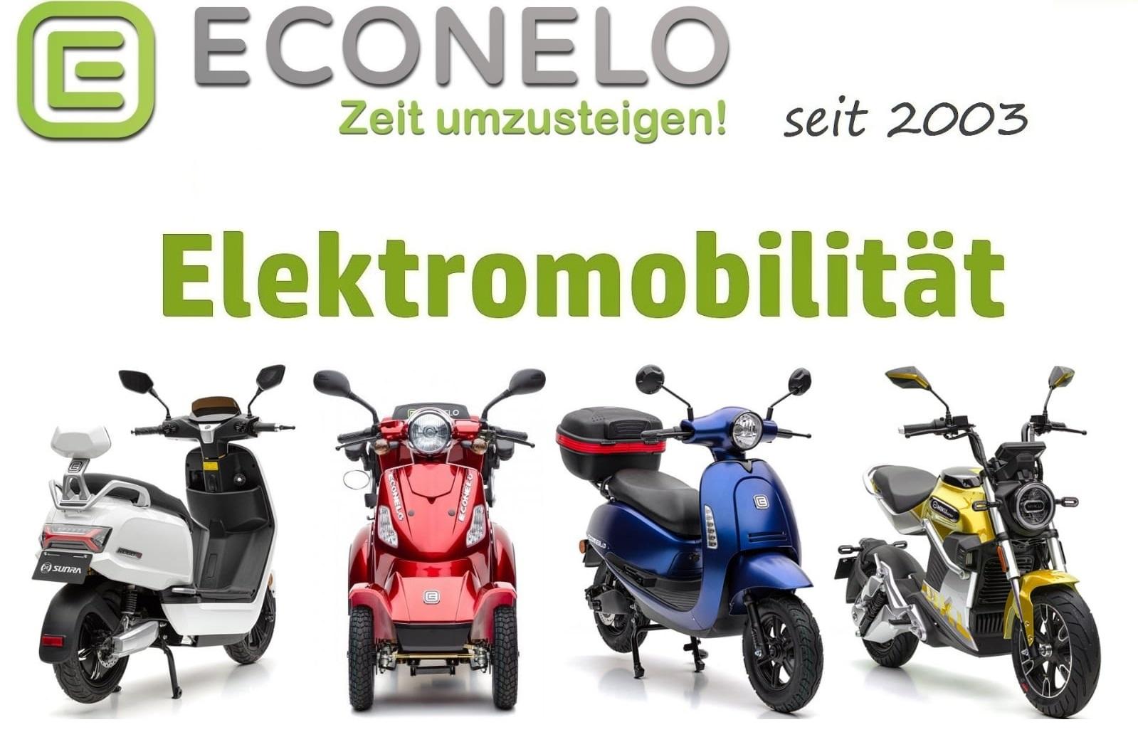 Econelo Elektromobile E-Zweirad E-Vierrad