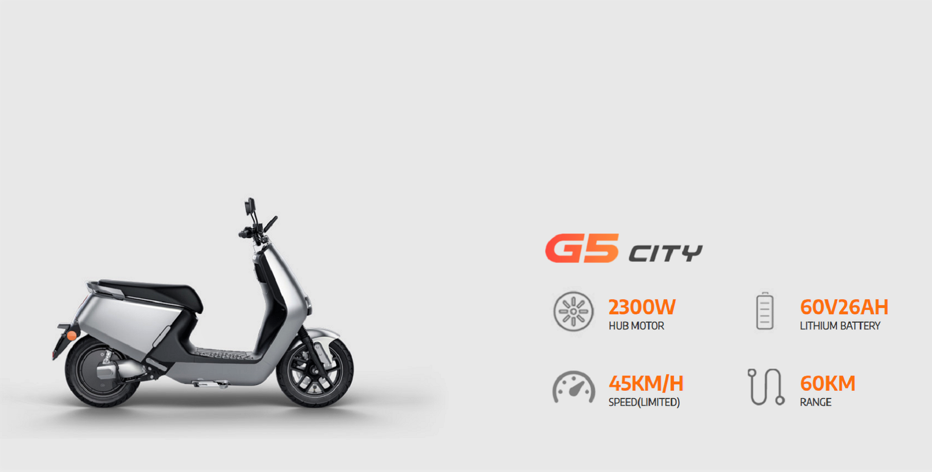 E-Motorroller Yadea City G5